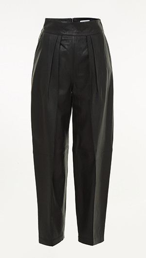 Social Pleat Leather Pants