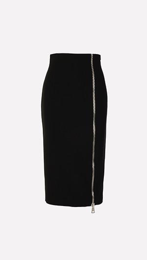 Lynn Zip Front Skirt