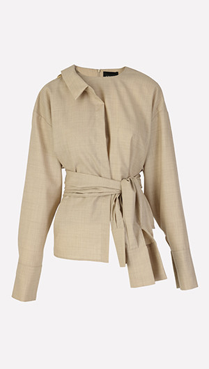 Deconstructed Belted Top