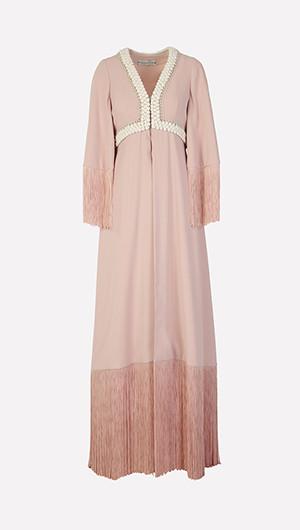 Fringed Overlay Slip Dress