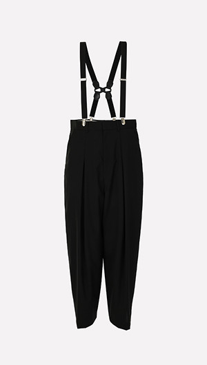 Pleated Pants with Suspenders
