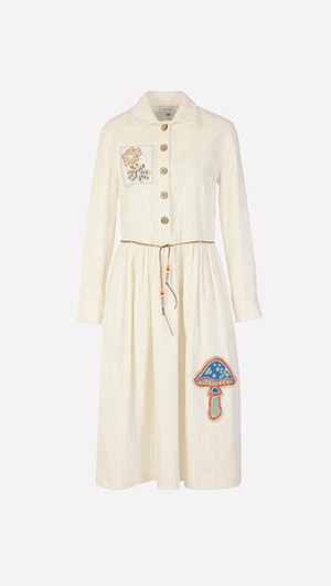 Embroidered Patch Dress