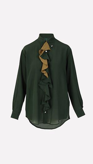 Moss Ruffle Shirt