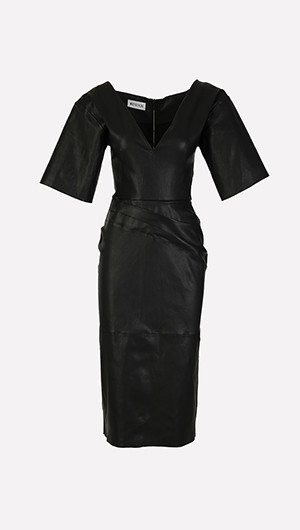 Leaded Leather Cocktail Dress
