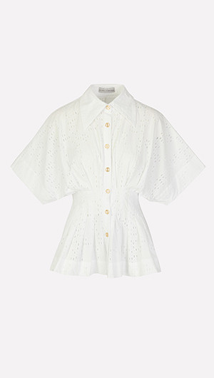 Courageous Hearts Pleated Shirt