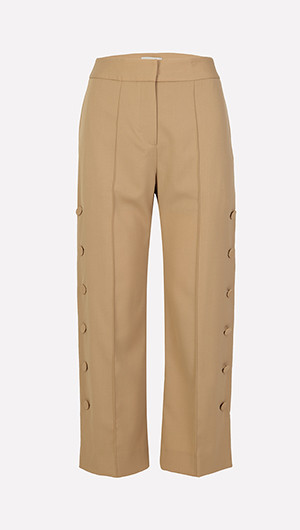Tenderness Side Button Pants