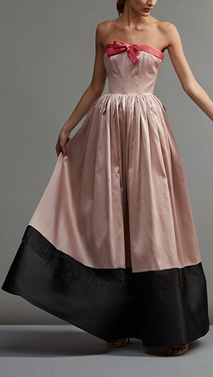 Grace Kelly Strapless Pleated Gown