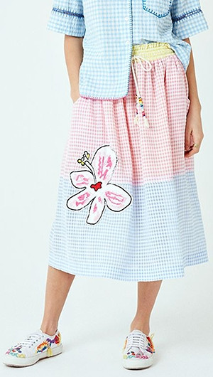 Gingham Patch Skirt