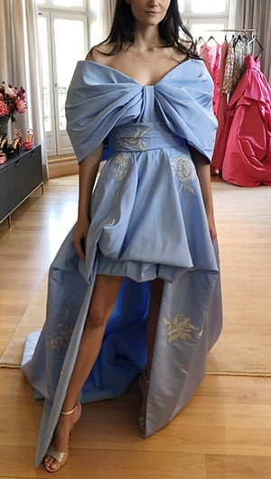 Off Shoulder High-Low Gown