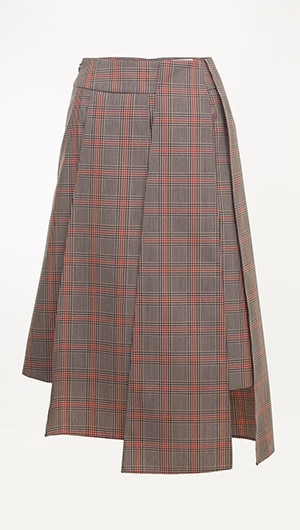 Birgit Asymmetrical Panel Skirt