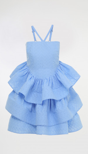 Tiered Halter Cocktail Dress