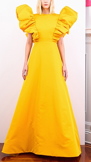Ruffle A-Line Gown