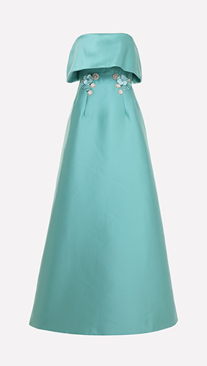 Ruffle Bust Gown