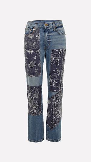 Arts Floral Patchwork Jeans