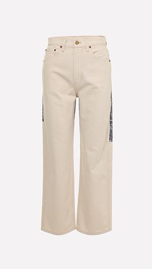 Plein Floral Patchwork Jeans