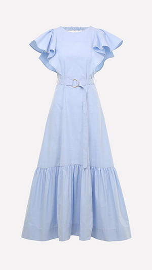 Julia Ruffle Maxi Dress
