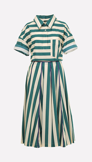 Christy Striped Midi Dress