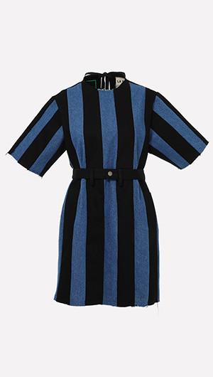 Sally Striped Denim Dress