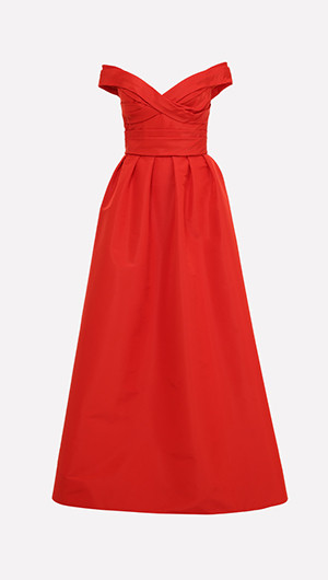 Draped Bodice Gown