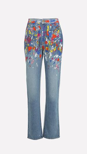 Paint Spatter Jeans
