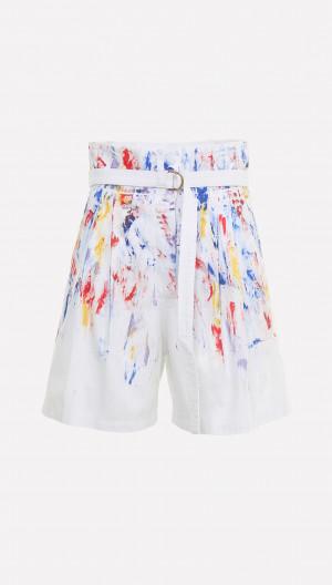 Paint Spatter Shorts