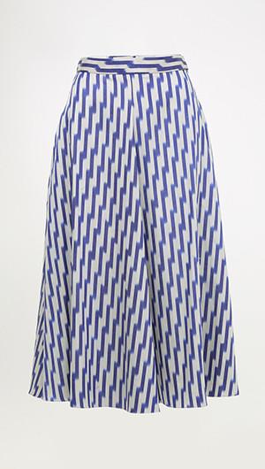Ikat Pleated Skirt