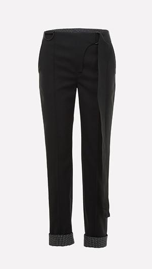 Hem Detail Skinny Pants