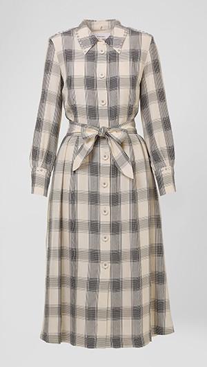 Plaid Studded Shirt Dress