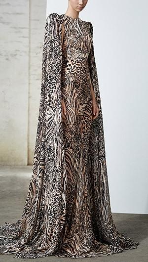 Alex Caped Gown