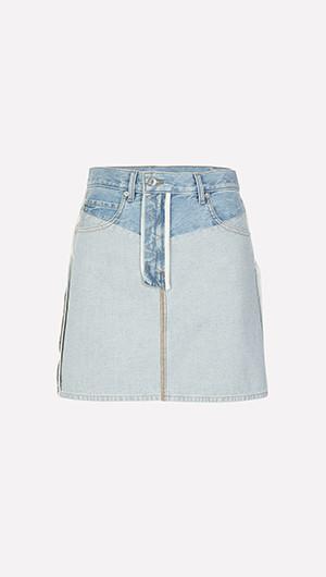 Inside Out Denim Skirt
