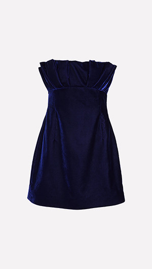 Pleated Bodice Cocktail Dress