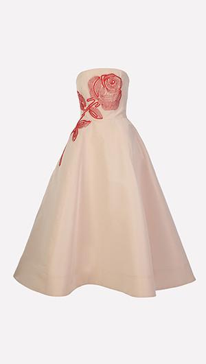 Floral Detail Cocktail Dress