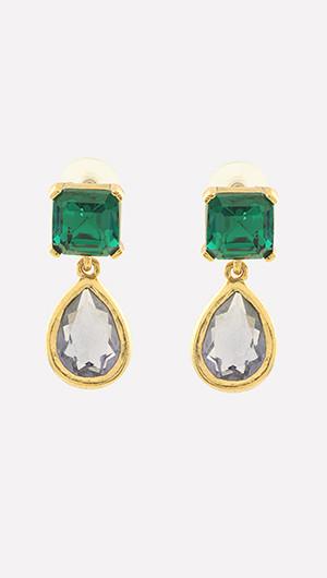 Emerald Baroque Drop Earrings